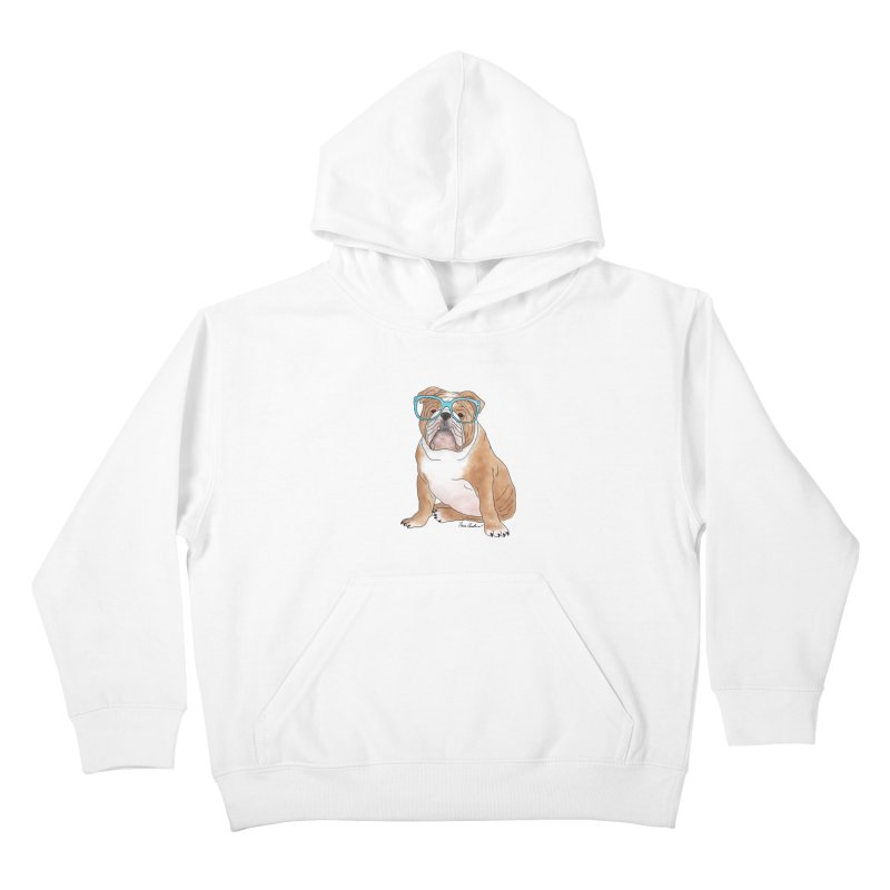 Bruiser the English Bulldog Kids Pullover Hoody by Tara Joy Andrews