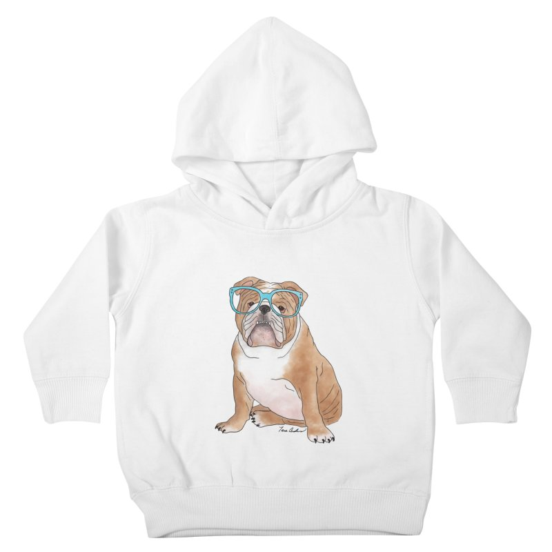 Bruiser the English Bulldog Kids Toddler Pullover Hoody by Tara Joy Andrews