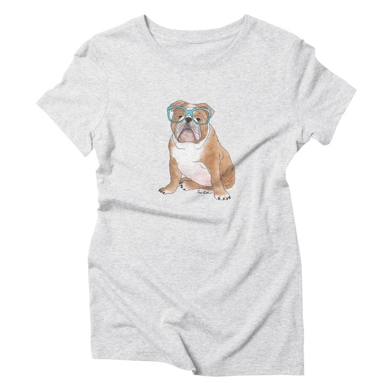 Bruiser the English Bulldog Women's T-Shirt by Tara Joy Andrews