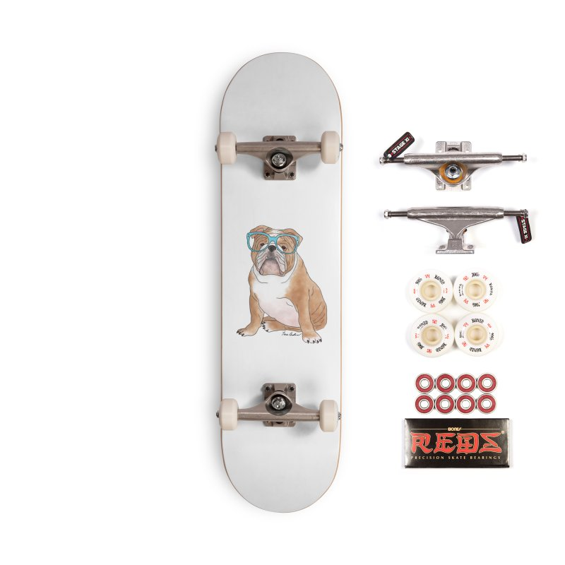 Bruiser the English Bulldog Accessories Complete - Pro Skateboard by Tara Joy Andrews