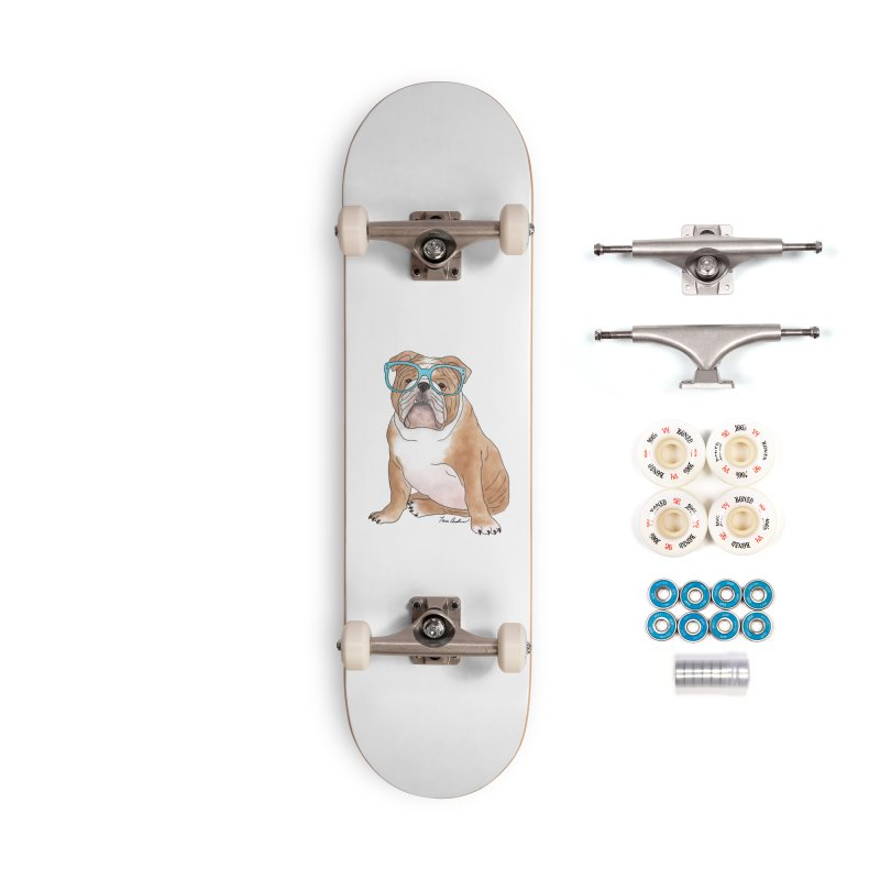 Bruiser the English Bulldog Accessories Complete - Premium Skateboard by Tara Joy Andrews