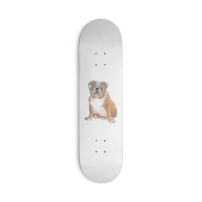 Bruiser the English Bulldog Accessories Deck Only Skateboard by Tara Joy Andrews