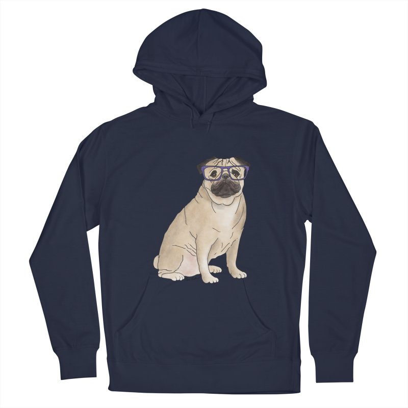 Milo the Pug Women's French Terry Pullover Hoody by Tara Joy Andrews