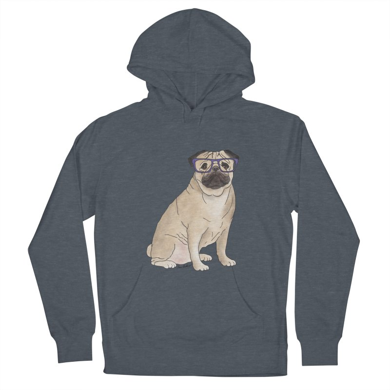 Milo the Pug Men's French Terry Pullover Hoody by Tara Joy Andrews