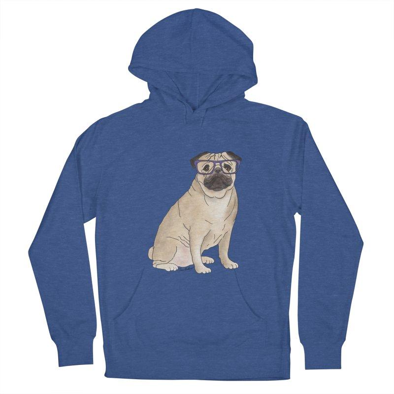 Milo the Pug Men's French Terry Pullover Hoody by Tara Joy Andrews