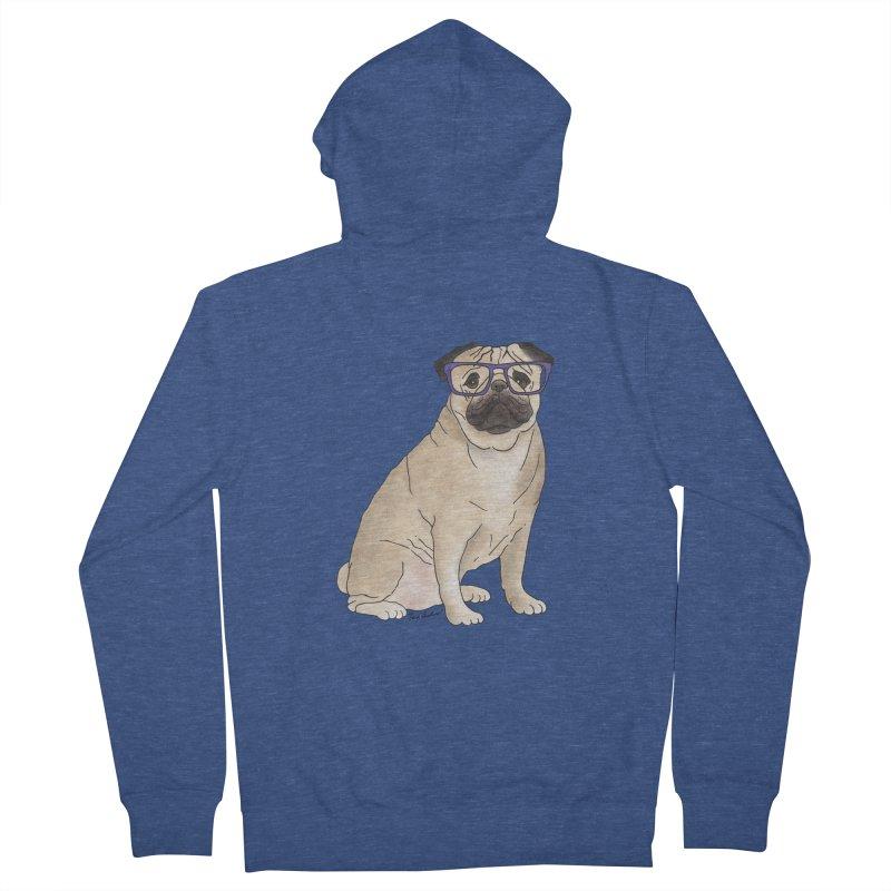 Milo the Pug Women's French Terry Zip-Up Hoody by Tara Joy Andrews