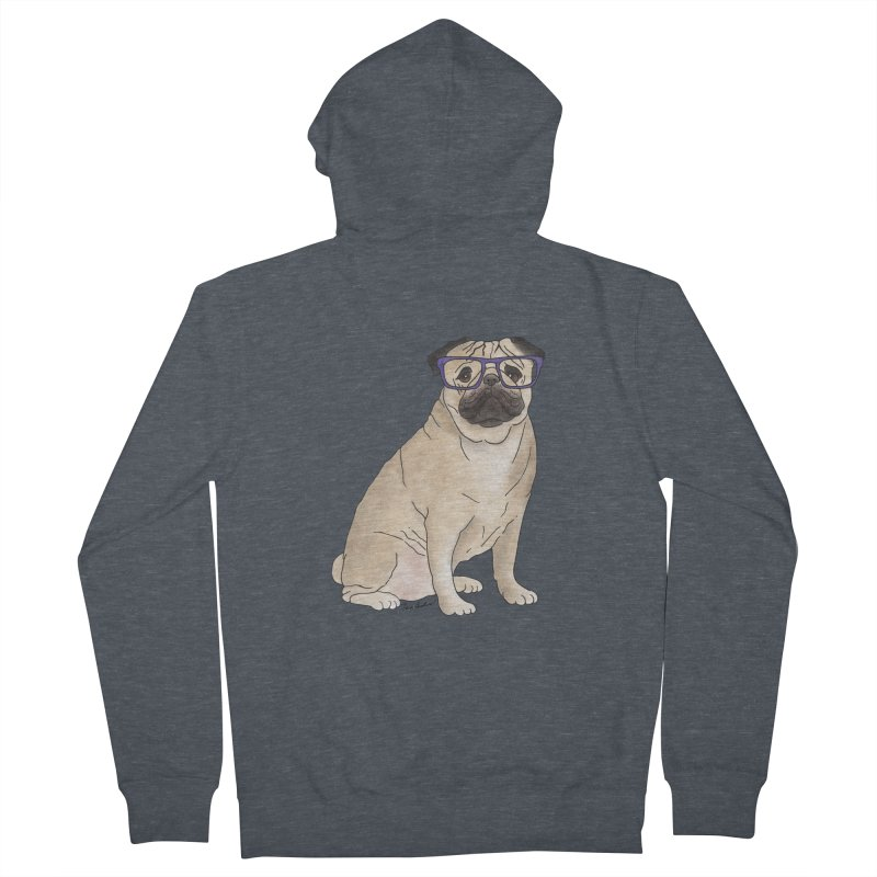 Milo the Pug Women's Zip-Up Hoody by Tara Joy Andrews