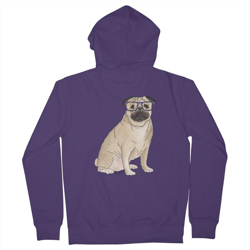 Milo the Pug Women's Zip-Up Hoody by Tara Joy Andrews