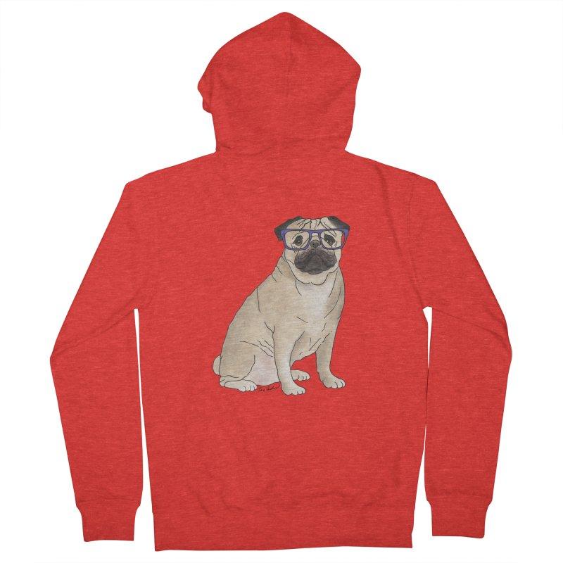 Milo the Pug Men's Zip-Up Hoody by Tara Joy Andrews