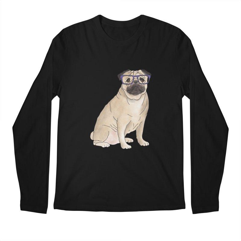 Milo the Pug Men's Regular Longsleeve T-Shirt by Tara Joy Andrews