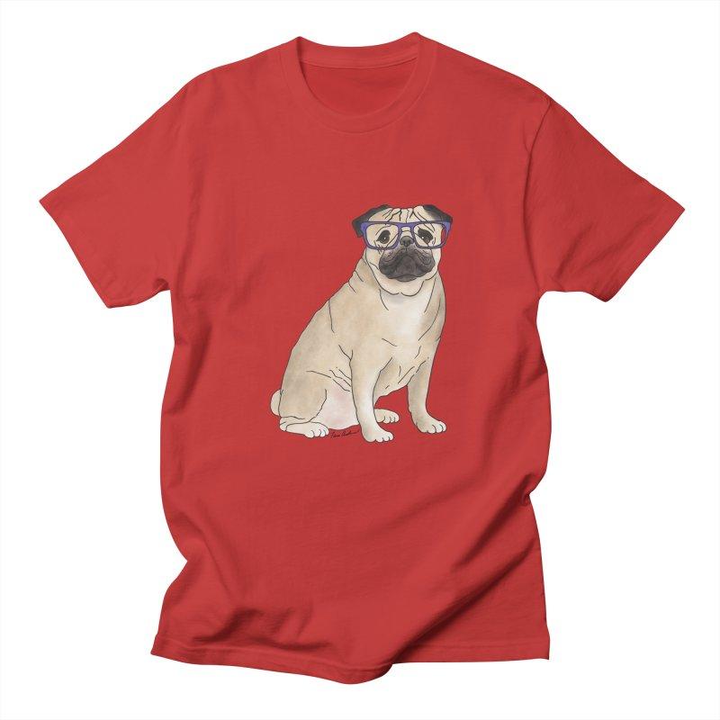 Milo the Pug Men's Regular T-Shirt by Tara Joy Andrews