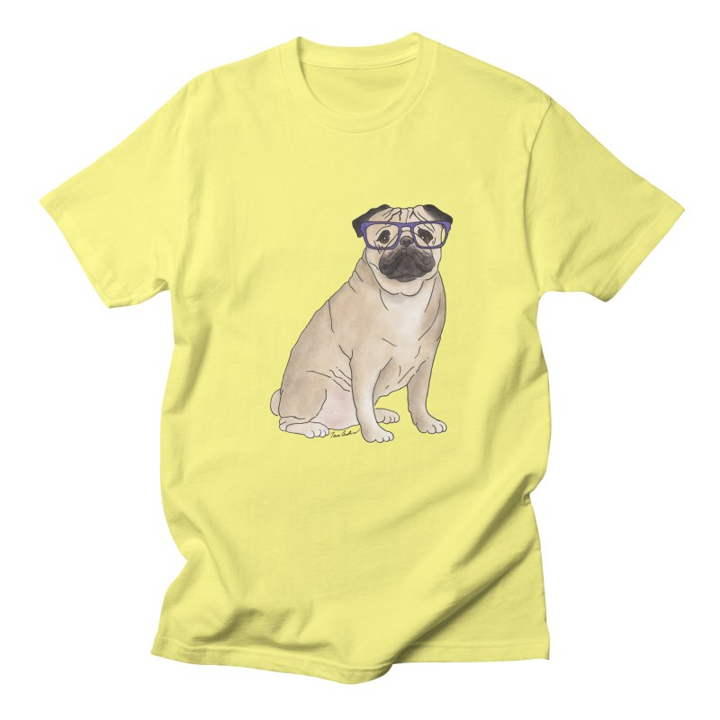 Milo the Pug Men's Regular T-Shirt by Tara Joy Andrews