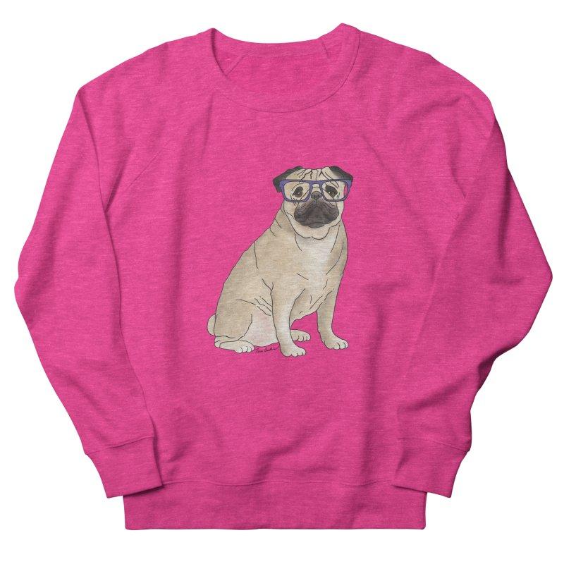 Milo the Pug Women's French Terry Sweatshirt by Tara Joy Andrews
