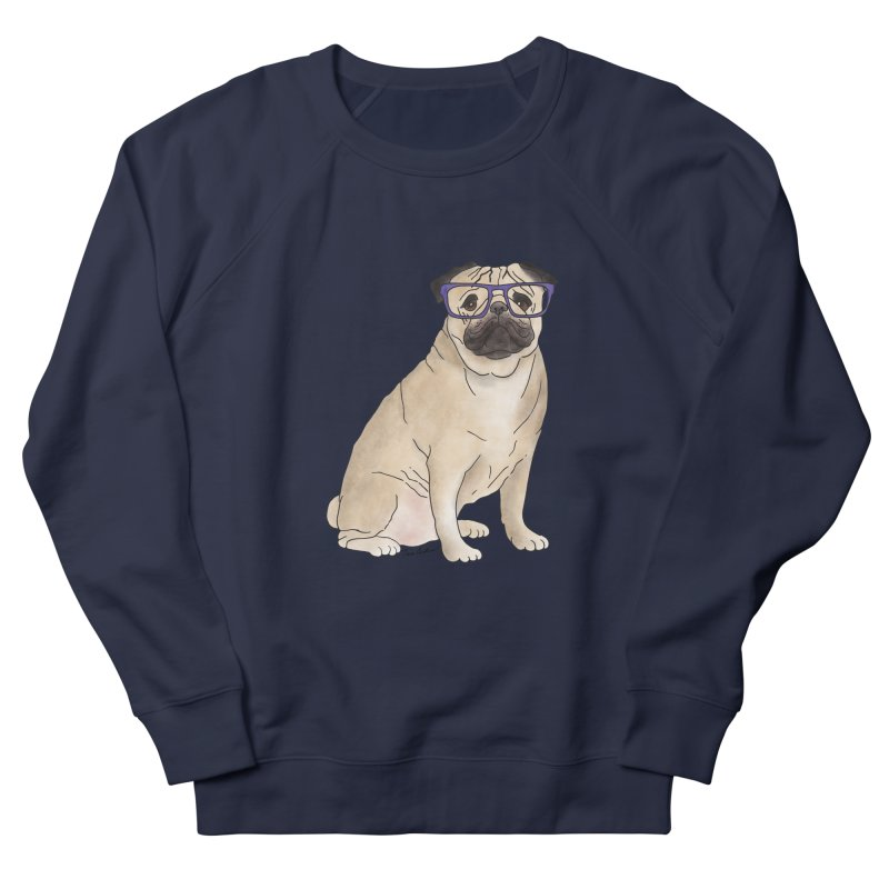 Milo the Pug Women's French Terry Sweatshirt by Tara Joy Andrews