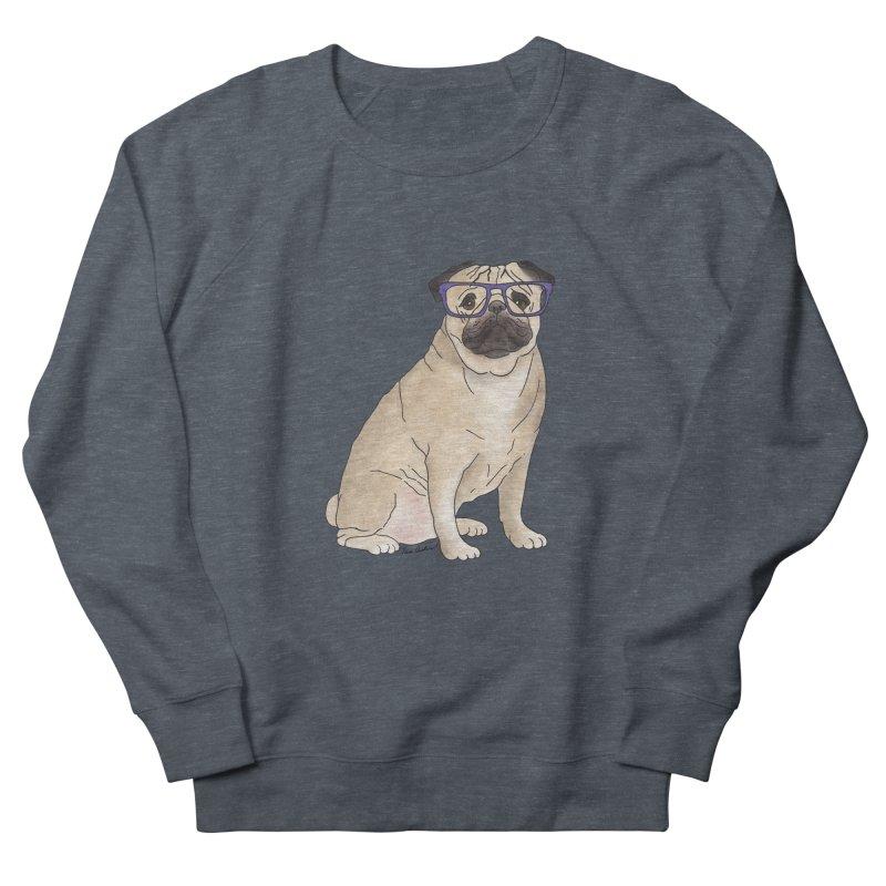 Milo the Pug Men's French Terry Sweatshirt by Tara Joy Andrews