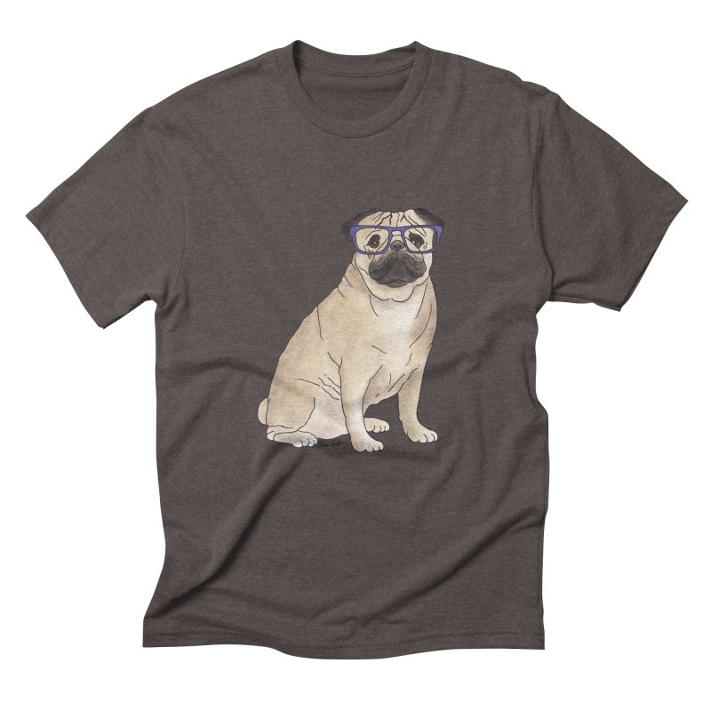 Milo the Pug Men's Triblend T-Shirt by Tara Joy Andrews