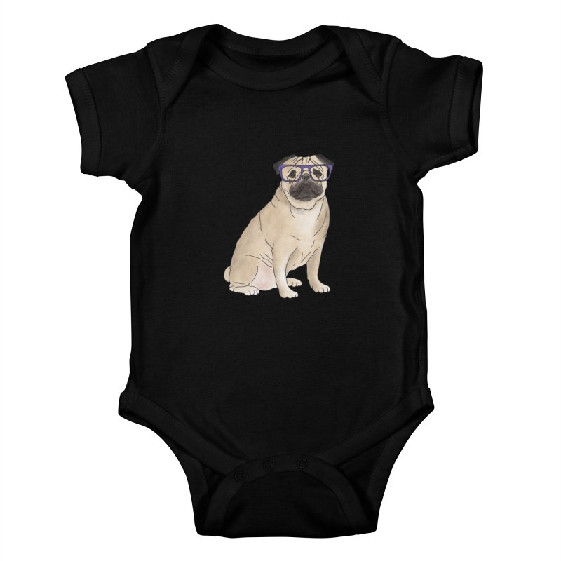 Milo the Pug Kids Baby Bodysuit by Tara Joy Andrews