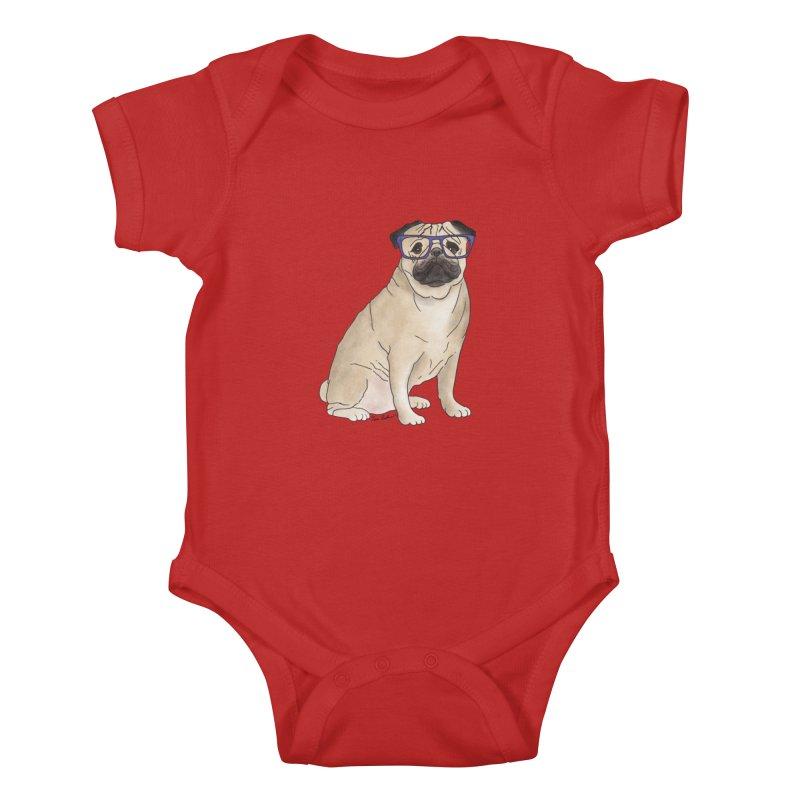 Milo the Pug Kids Baby Bodysuit by Tara Joy Andrews