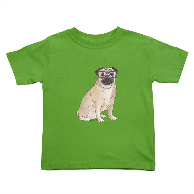 Milo the Pug Kids Toddler T-Shirt by Tara Joy Andrews