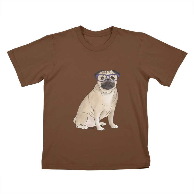 Milo the Pug Kids T-Shirt by Tara Joy Andrews