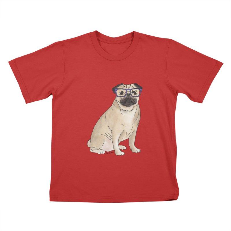 Milo the Pug Kids T-Shirt by Tara Joy Andrews