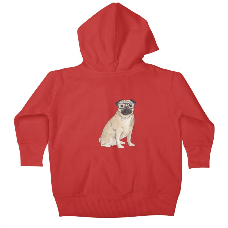 Milo the Pug Kids Baby Zip-Up Hoody by Tara Joy Andrews