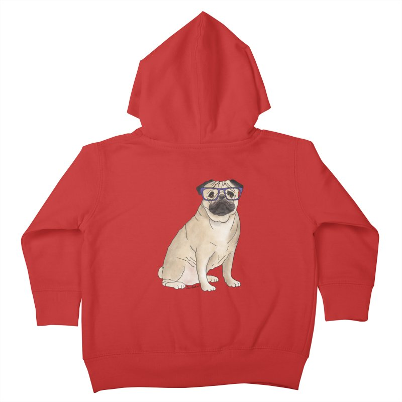 Milo the Pug Kids Toddler Zip-Up Hoody by Tara Joy Andrews