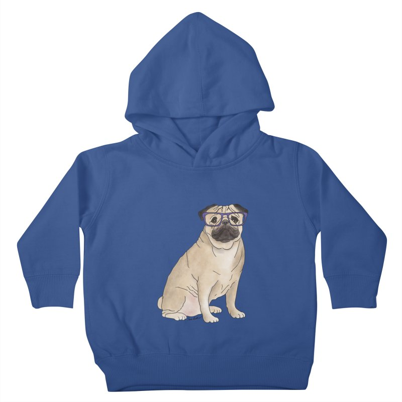Milo the Pug Kids Toddler Pullover Hoody by Tara Joy Andrews