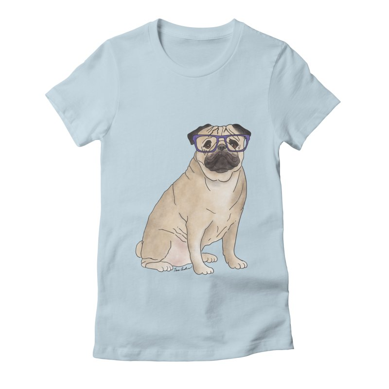 Milo the Pug Women's T-Shirt by Tara Joy Andrews