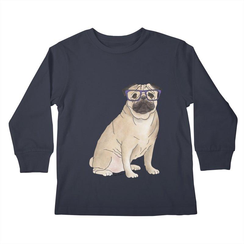 Milo the Pug Kids Longsleeve T-Shirt by Tara Joy Andrews