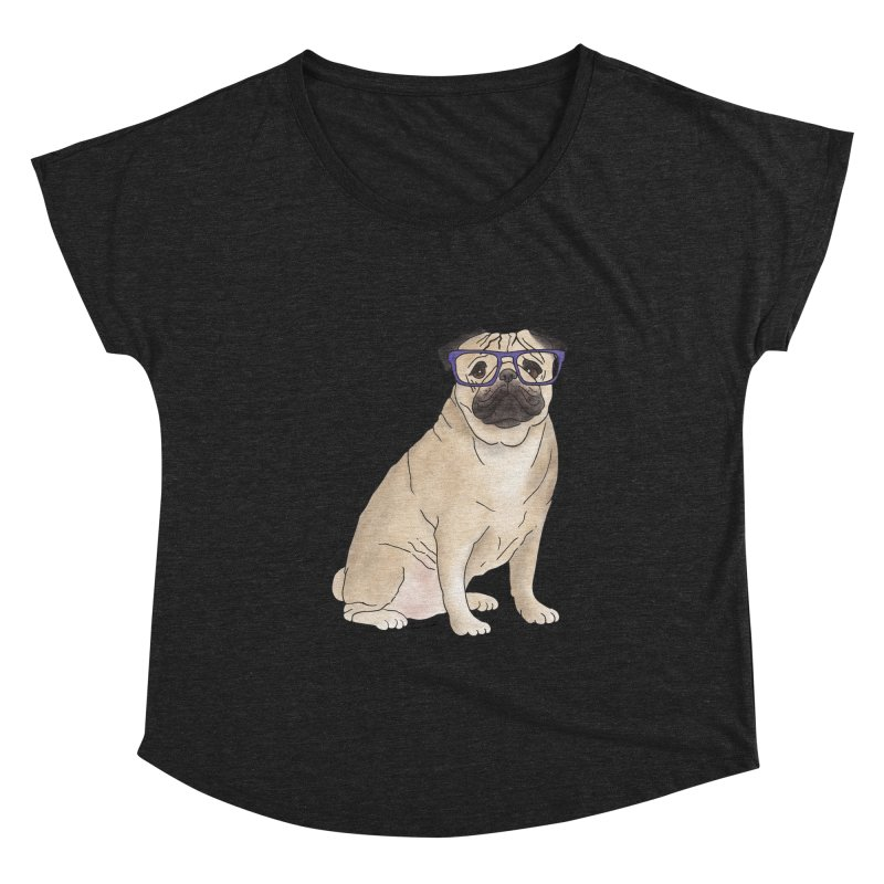Milo the Pug Women's Scoop Neck by Tara Joy Andrews