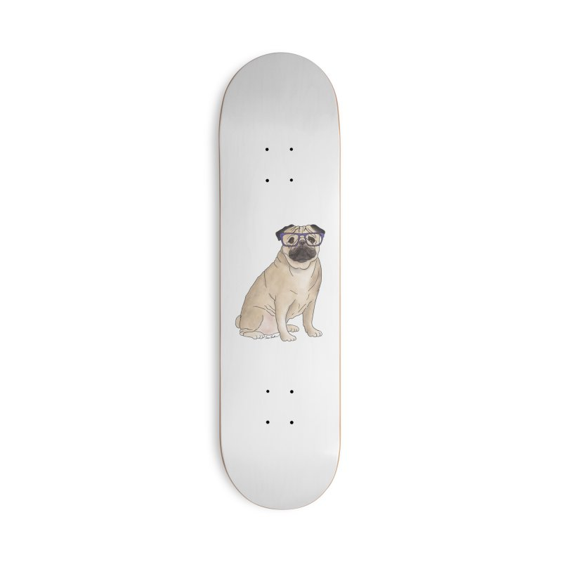Milo the Pug Accessories Deck Only Skateboard by Tara Joy Andrews