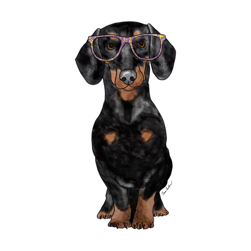 Dapper Dachshund Women's V-Neck by Tara Joy Andrews