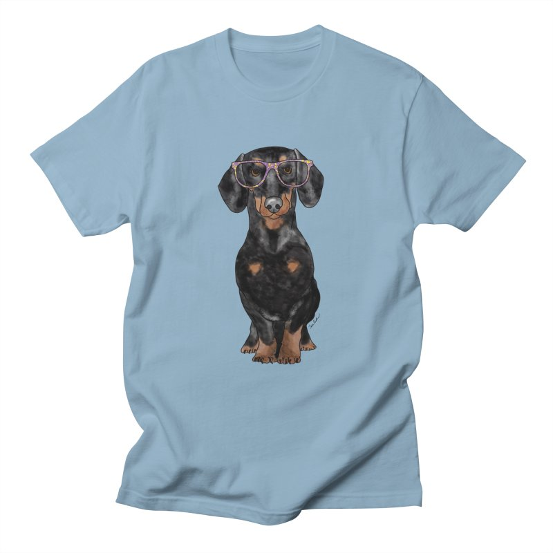 Dapper Dachshund Men's T-Shirt by Tara Joy Andrews