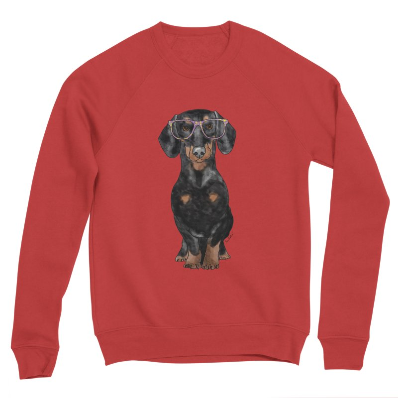 Dapper Dachshund Men's Sponge Fleece Sweatshirt by Tara Joy Andrews