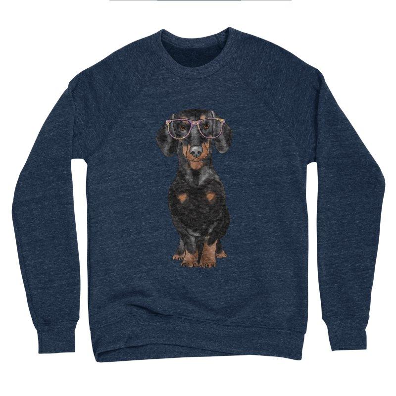 Dapper Dachshund Men's Sponge Fleece Sweatshirt by Tara Joy Andrews
