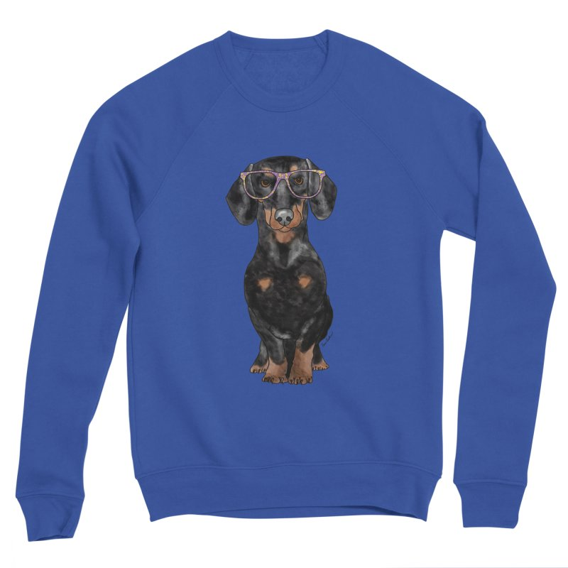 Dapper Dachshund Women's Sponge Fleece Sweatshirt by Tara Joy Andrews