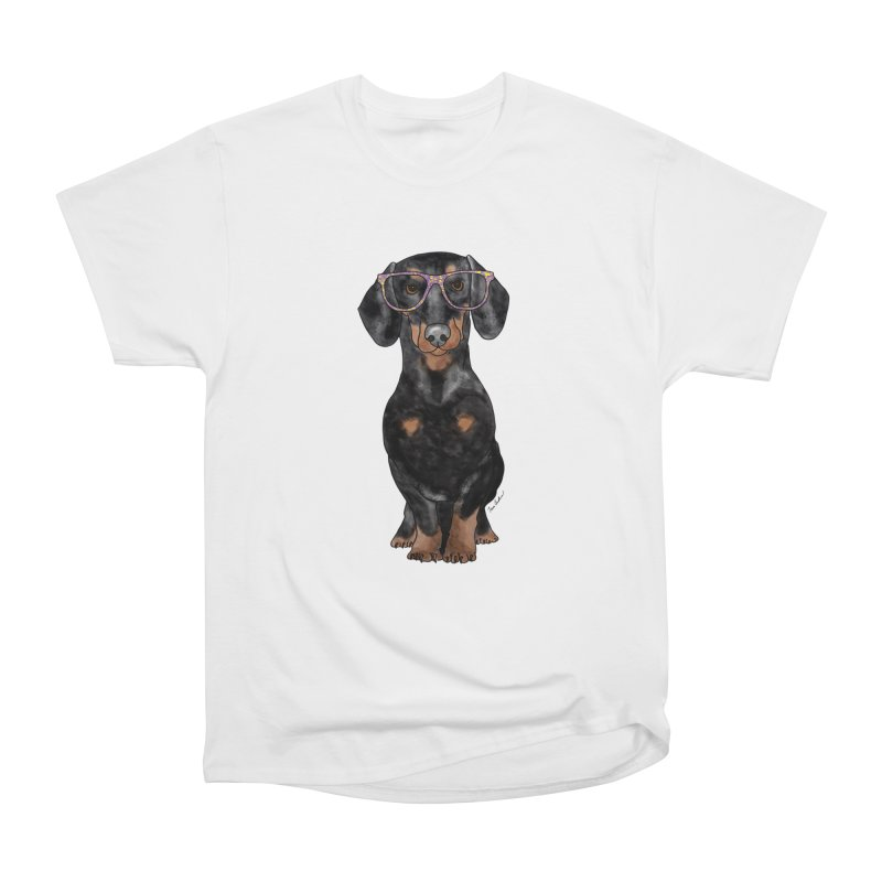 Dapper Dachshund Men's Heavyweight T-Shirt by Tara Joy Andrews