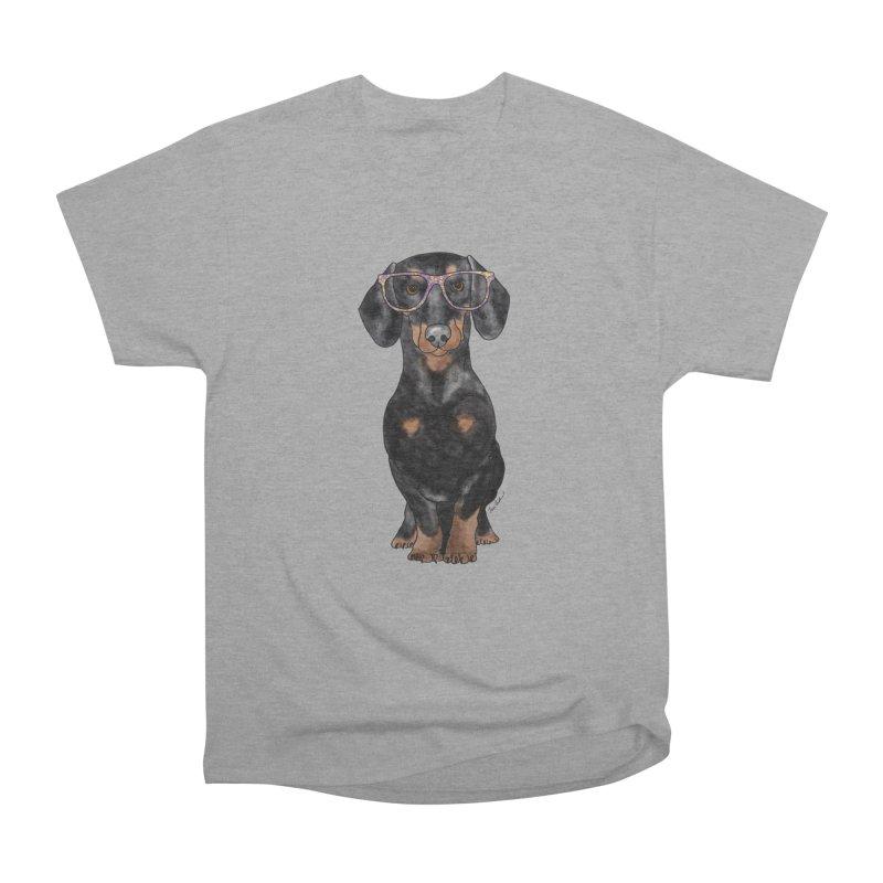 Dapper Dachshund Men's Heavyweight T-Shirt by Tara Joy Andrews