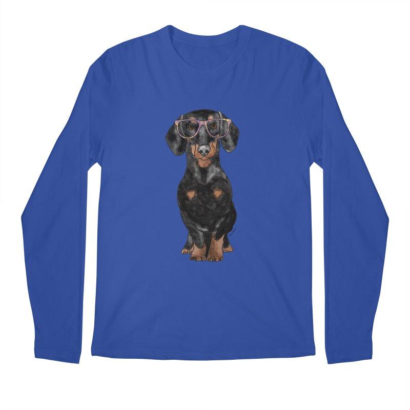 Dapper Dachshund Men's Regular Longsleeve T-Shirt by Tara Joy Andrews