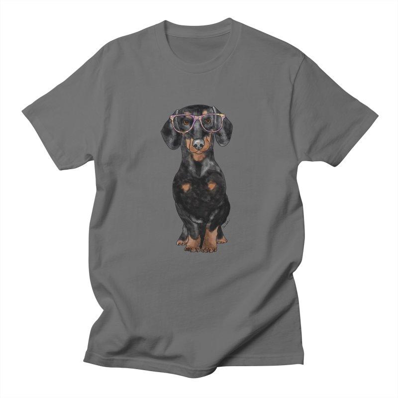 Dapper Dachshund Women's Regular Unisex T-Shirt by Tara Joy Andrews