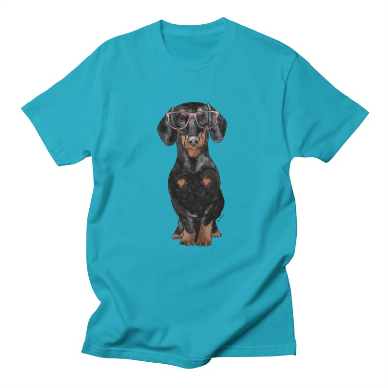 Dapper Dachshund Men's Regular T-Shirt by Tara Joy Andrews