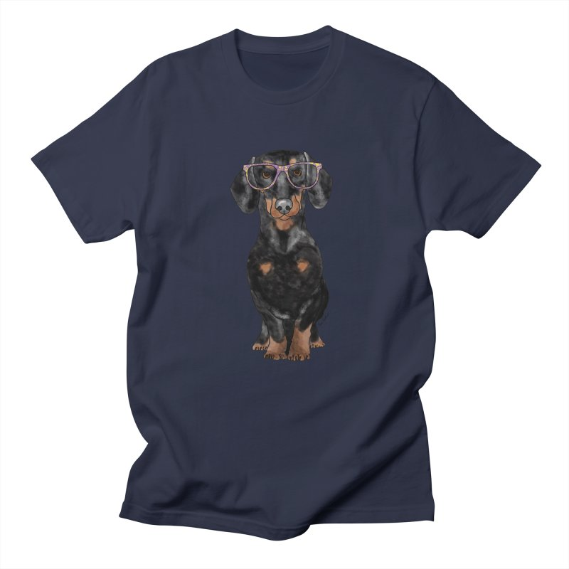 Dapper Dachshund Women's Regular Unisex T-Shirt by Tara Joy Andrews