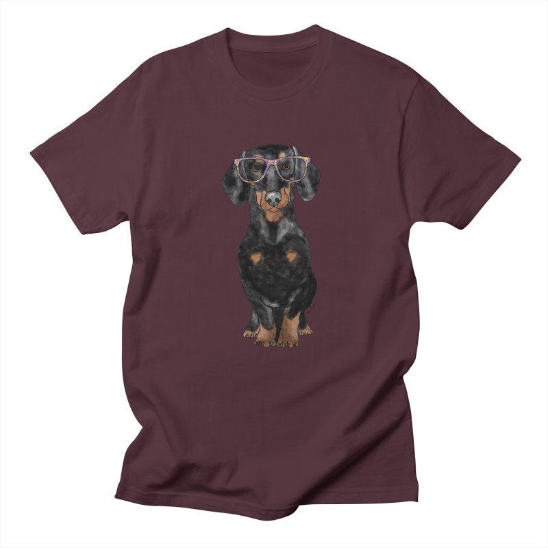 Dapper Dachshund Men's Regular T-Shirt by Tara Joy Andrews