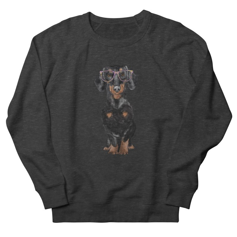 Dapper Dachshund Women's French Terry Sweatshirt by Tara Joy Andrews