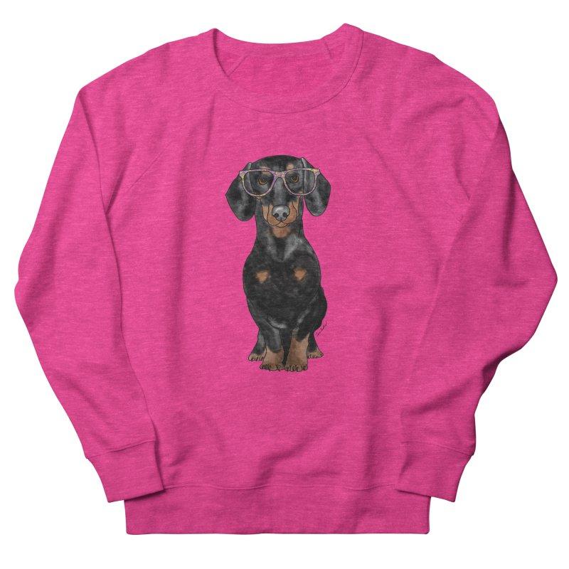 Dapper Dachshund Men's French Terry Sweatshirt by Tara Joy Andrews
