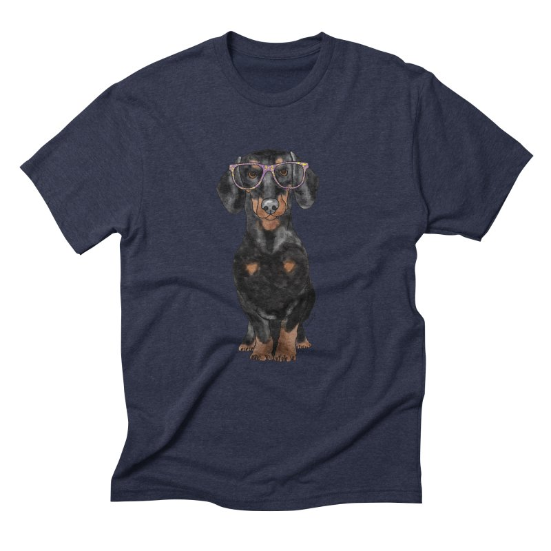 Dapper Dachshund Men's Triblend T-Shirt by Tara Joy Andrews