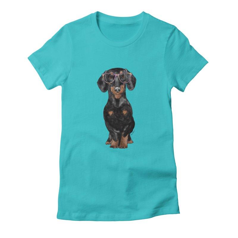 Dapper Dachshund Women's T-Shirt by Tara Joy Andrews