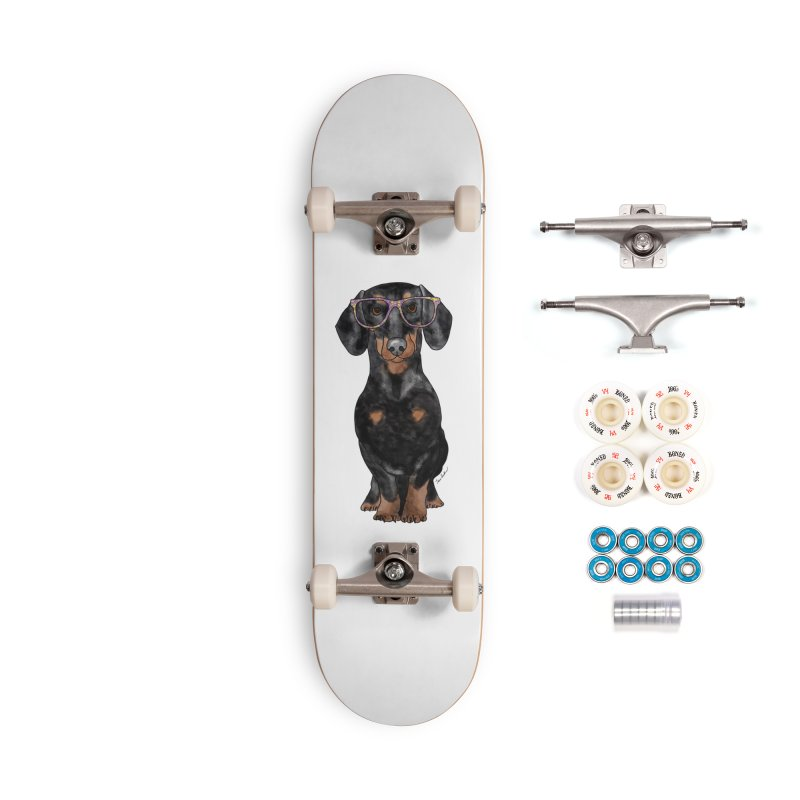 Dapper Dachshund Accessories Complete - Premium Skateboard by Tara Joy Andrews