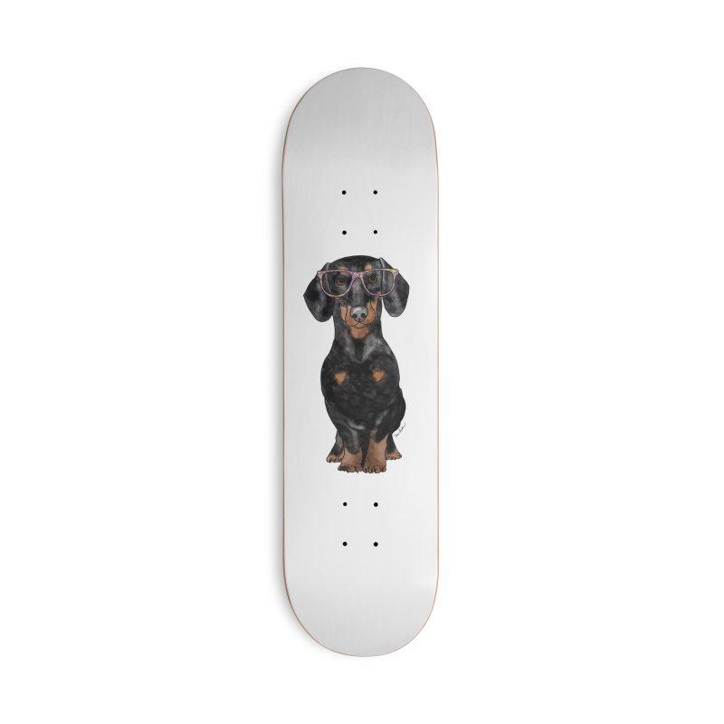 Dapper Dachshund Accessories Deck Only Skateboard by Tara Joy Andrews